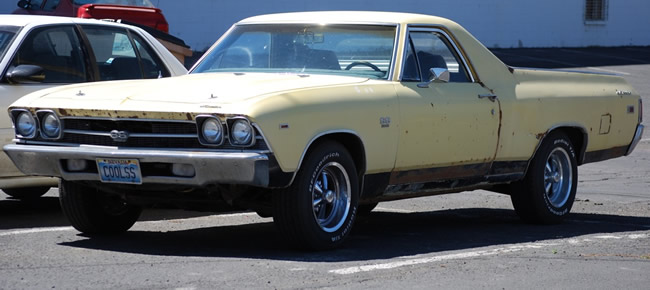 Photo of Chevrolet El Camino SS spotted in a parking lot in Winnemucca Nevada