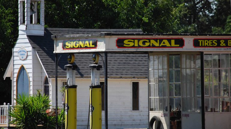 Rescued Signal Gas Station at Stokes Ranch Ca