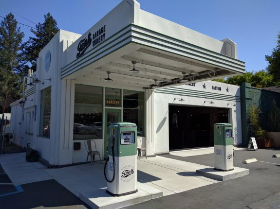 Fill Up at Tank Garage Winery - Old gas station in Calistoga, California
