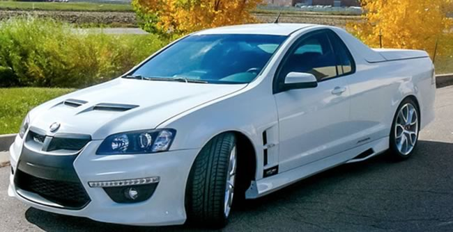 Holden Ute from HSV (Holden Special Vehicles). Top of the range luxury sports with independent rear suspension.