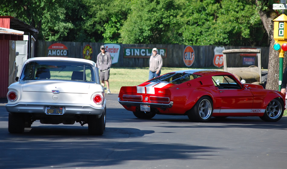 Race car classics 816hp GT350 Shelby Mustang and a first generation Falcon race car