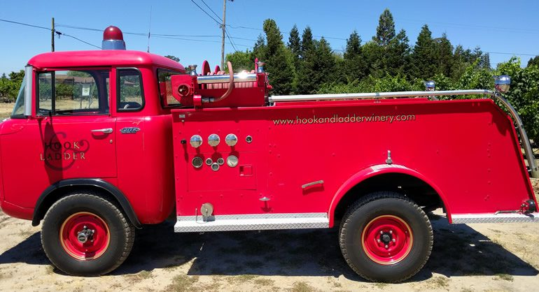 Hook & Ladder Winery Jeep FC 170 fire truck
