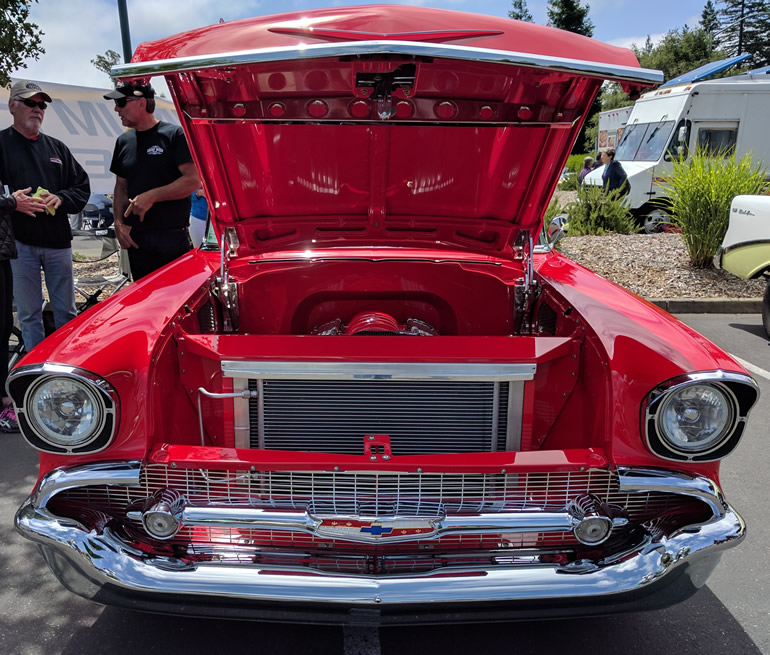 57 Chevy Bel Air by Dennis Gaya maintains the factory design on the outside, completely redesigned and modified everywhere else