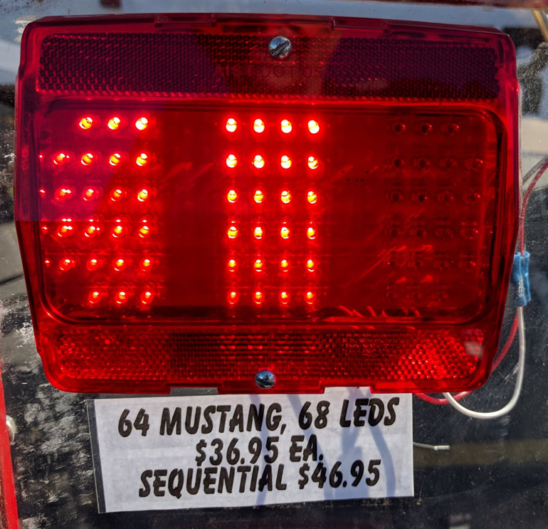 Mustang sequential indicator taillight conversion in LED