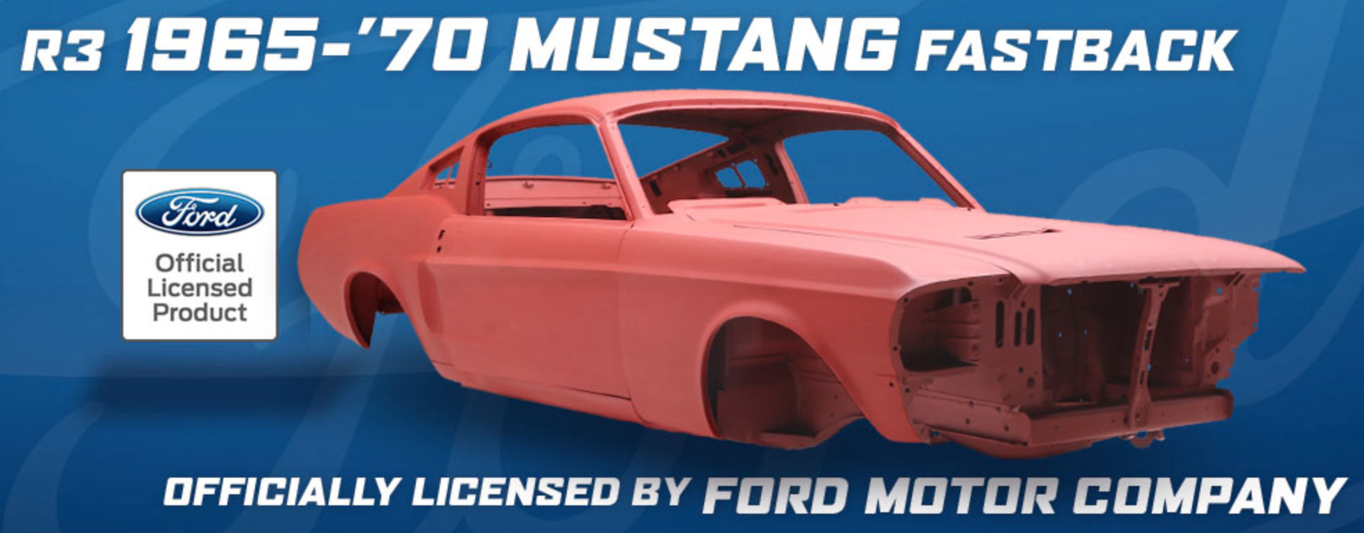 R3 1965 to 1970 Mustang convertible and Fastback bodyshells newly manufactured in the USA