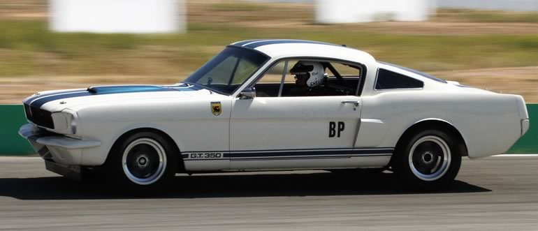 OVC Original Venice Crew Mustang Shelby GT350 on the race track