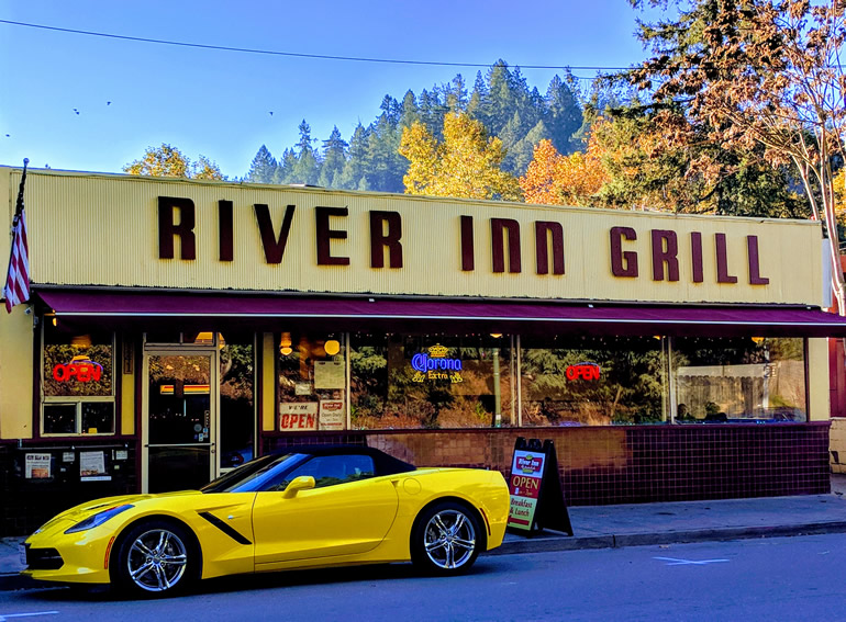 C7 Chevrolet Corvette parked in Guerneville, California