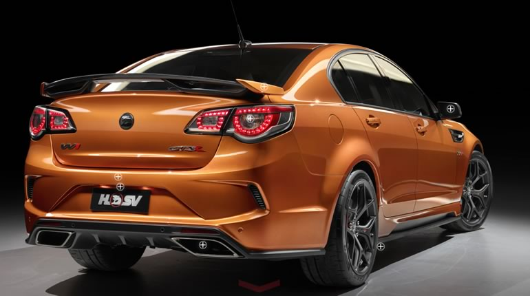 Holden Commodore GTSR W1 rear quarter view