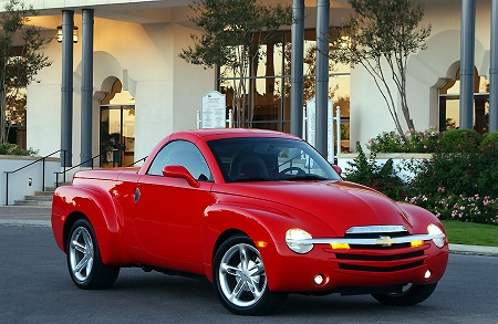 Chevrolet SSR very closely resembles Holden's first ute.