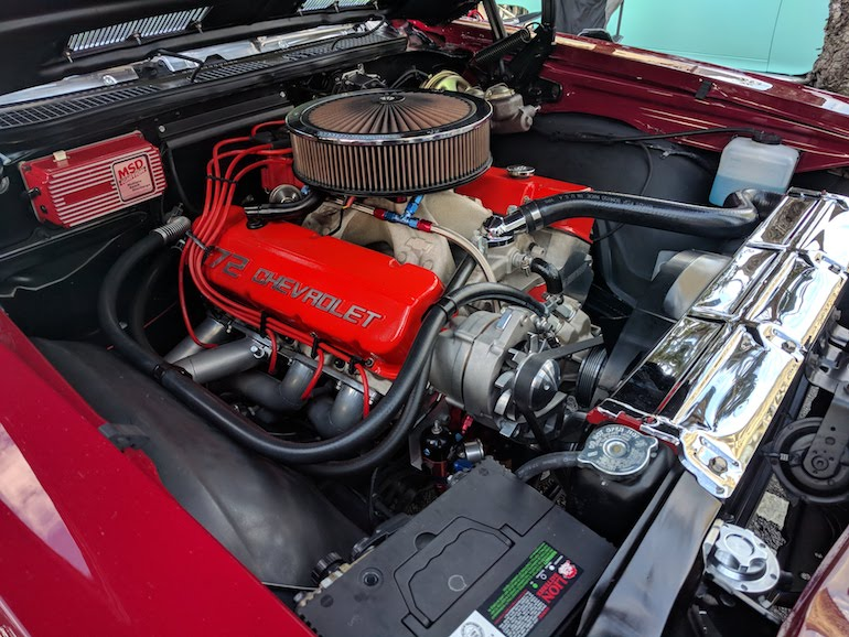 572 Chevrolet crate engine fitted to this 1972 Chevelle in Australia