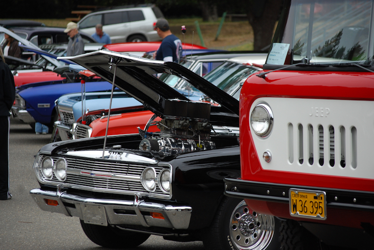 Geyserville classic car show in October