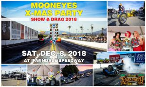 Mooneyes Christmas Party, car show and drag race 2018