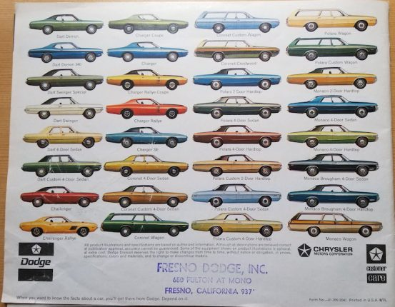 Image of 1972 Dodge brochure titled The cars that put people first