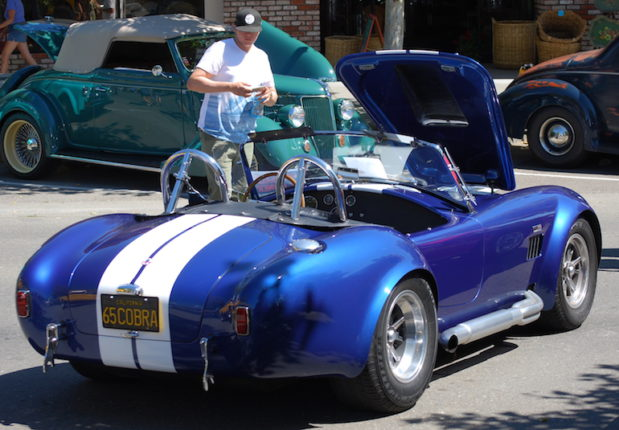 Rear view of Shelby AC Cobra 427 for sale in California