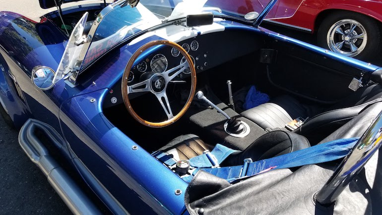 Image of interior of 65 Cobra for sale in northern California
