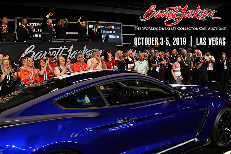 Las Vegas Barrett-Jackson 2019 classic car auction. Image of auction in progress.